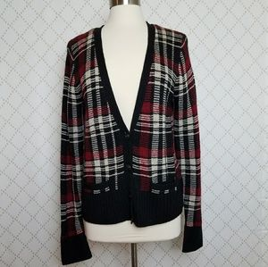 RALPH LAUREN Denim & Supply Plaid Cardigan